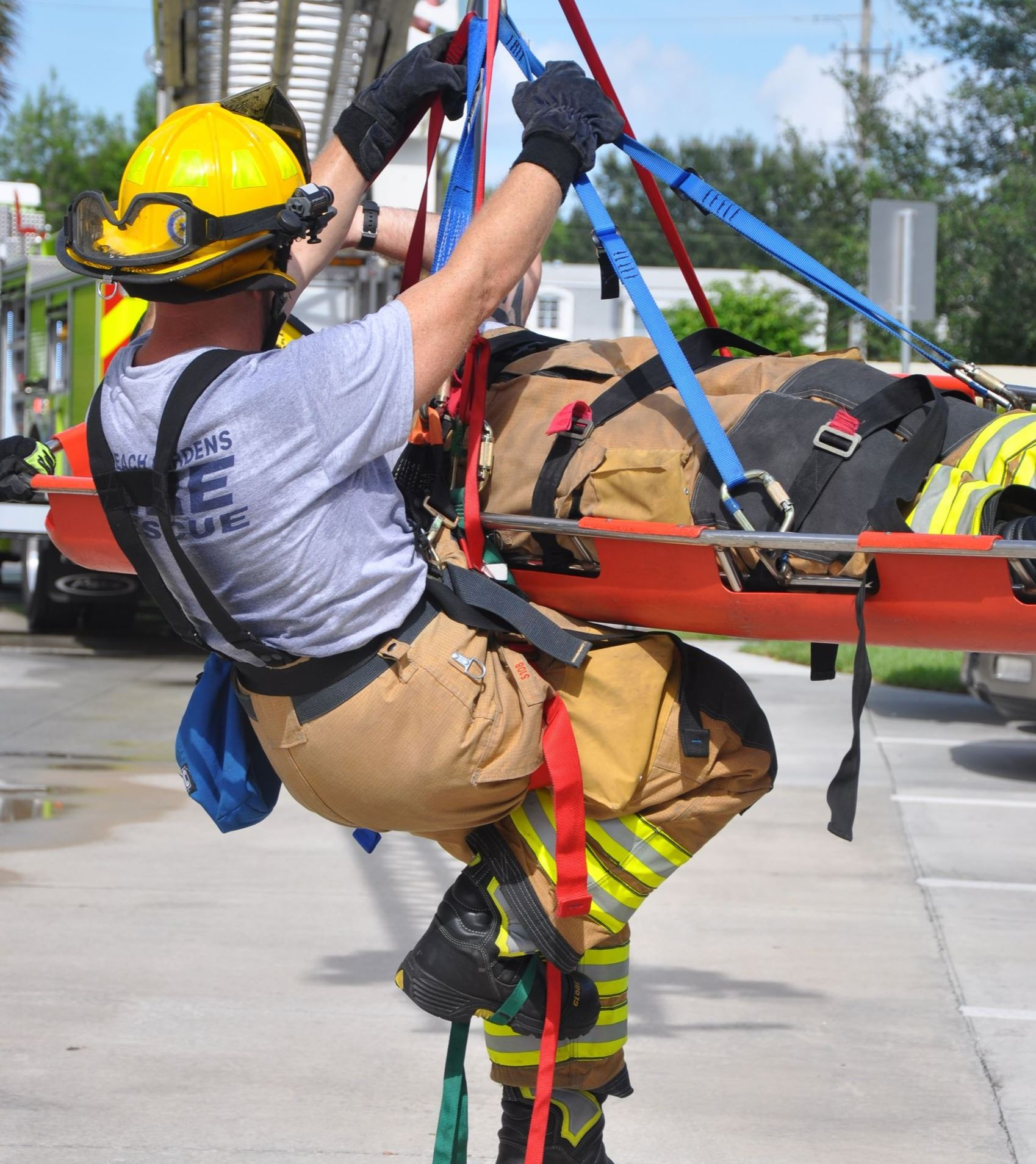 High Angle Rescue training.