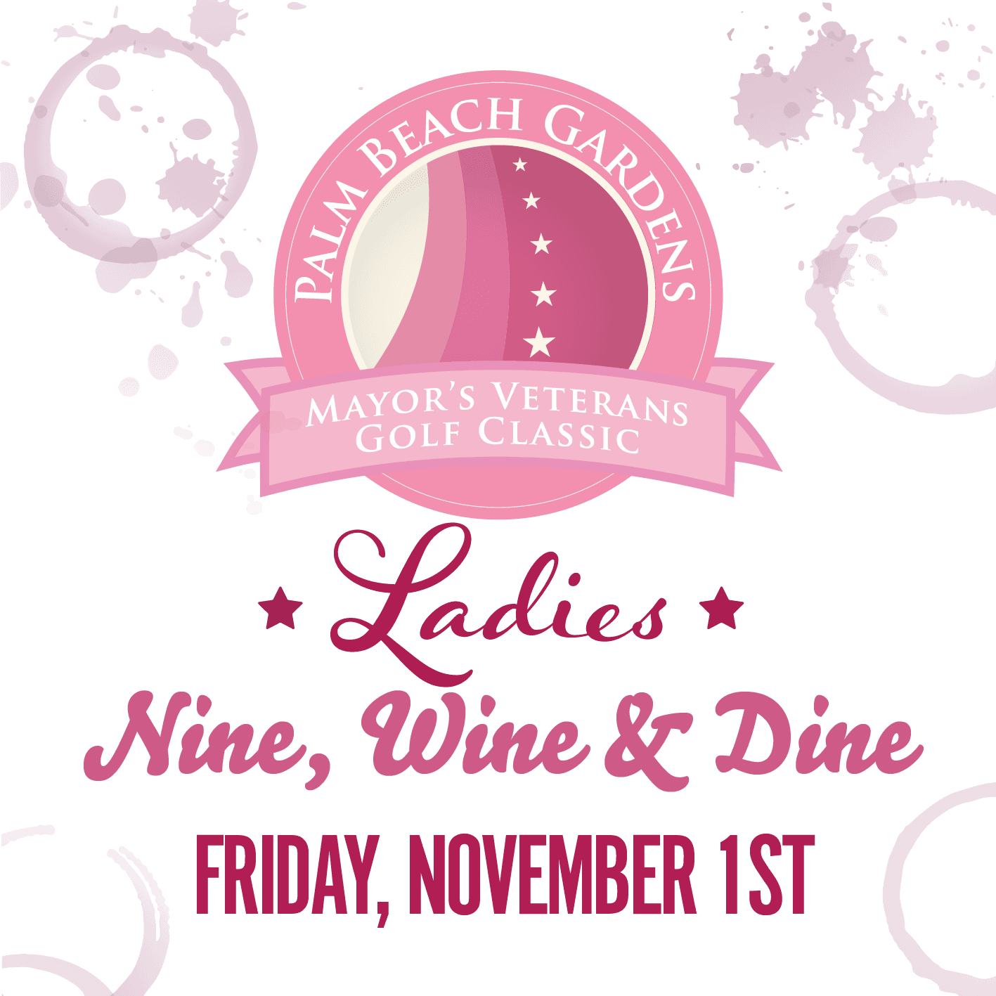 2019 Ladies Nine and Wine Golf Tournament- November 1, 2019.