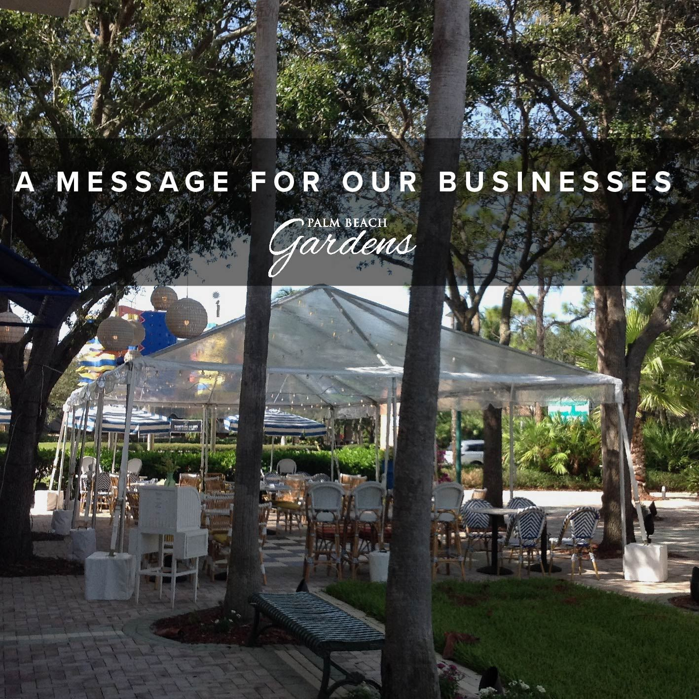 A message for our businesses on outdoor are use.