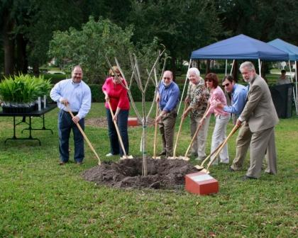 Arbor Day 2011 City Council Planting a Tree