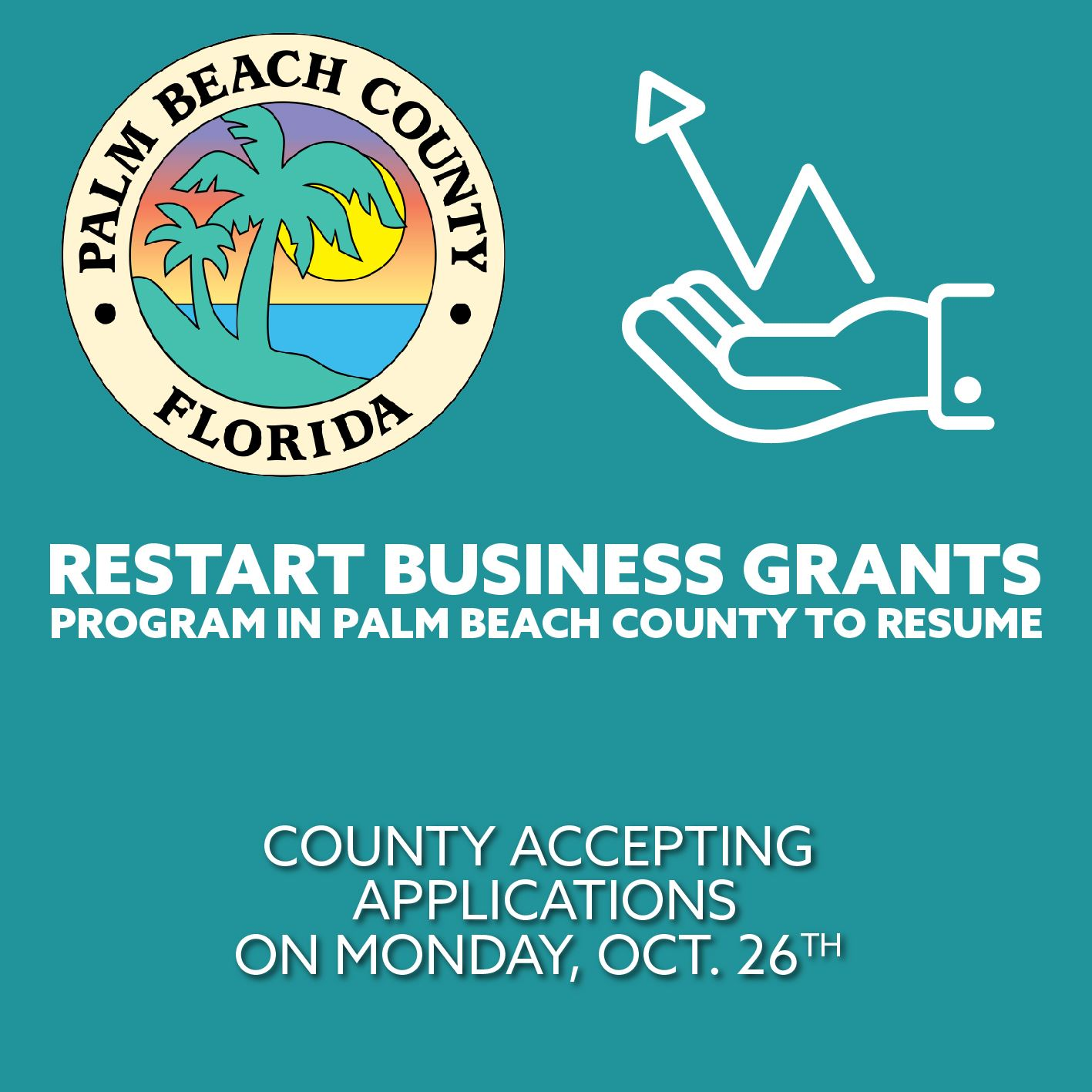 County Restart Business Grants Program accepting applications on October 26, 2020.