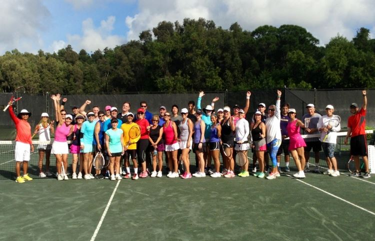 New Year's Tennis Hitting Frenzy group