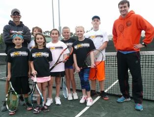 Kids and coaches on the Junior Team