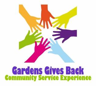Gardens Gives Back logo