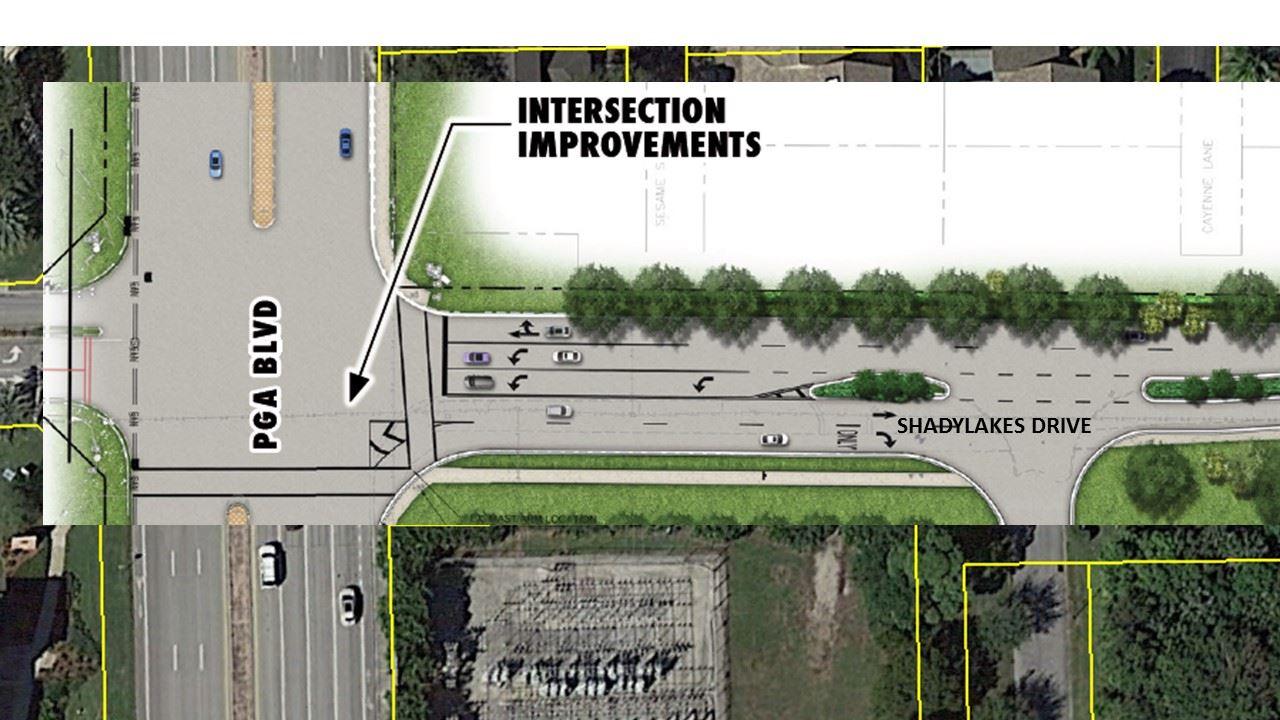 Shady Lakes Drive and PGA Blvd. Intersection Improvements | Palm ...