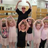 Ann Fraser and young dance students