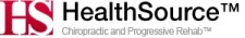 HealthSource logo with text &#34Chiropractic and Progressive Rehab&#34