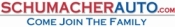 Schumacher Auto Logo with text &#34Schumacherauto.com Come Join The Family&#34