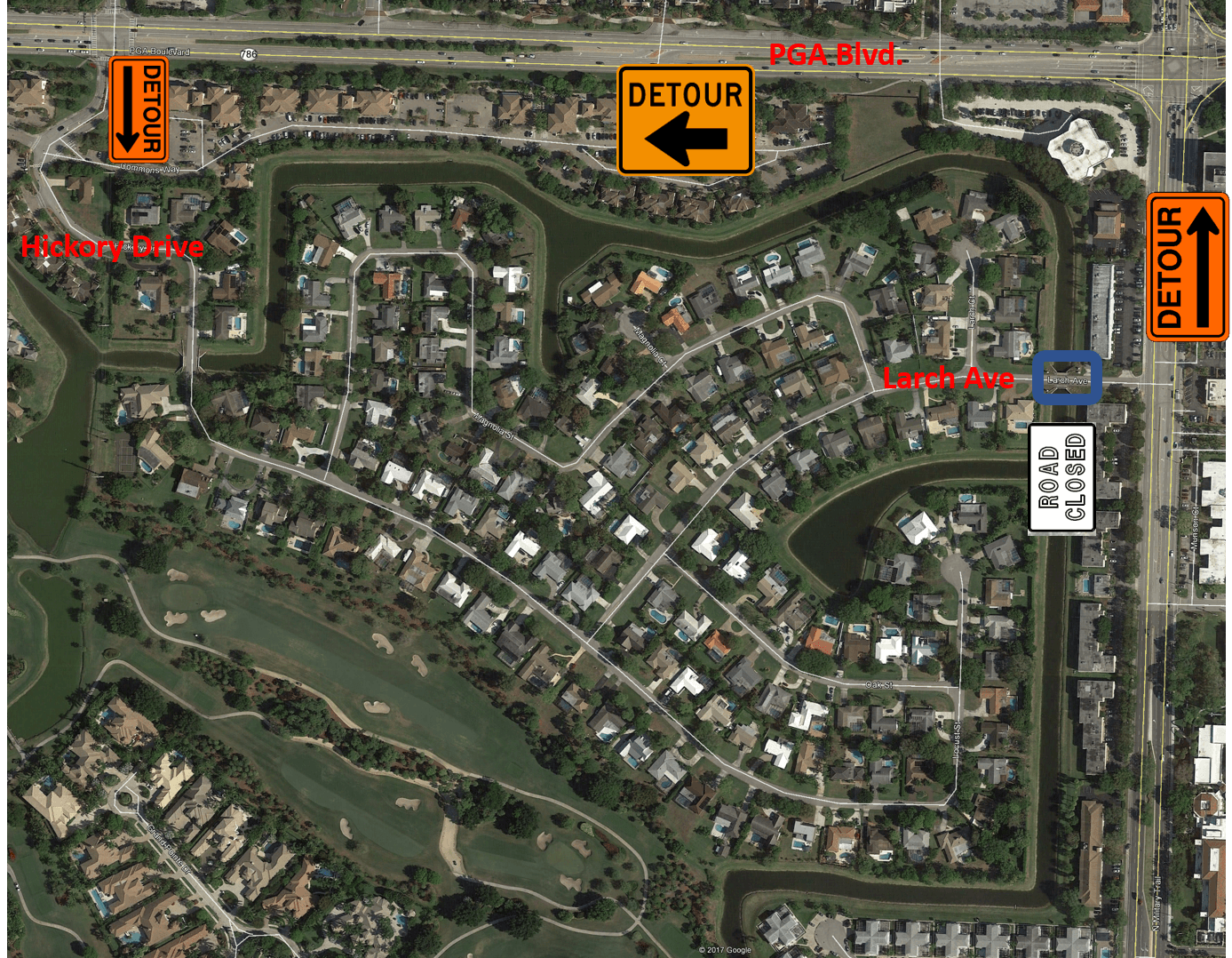Larch Avenue Bridge Closure