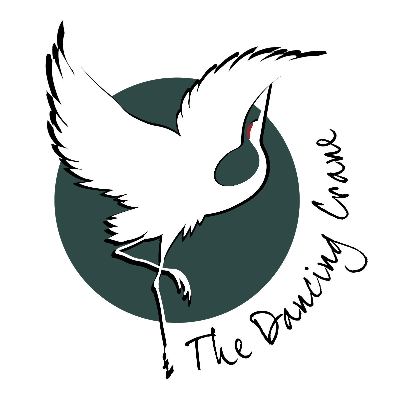The Dancing Crane Primary Logo PNG (Full Color)