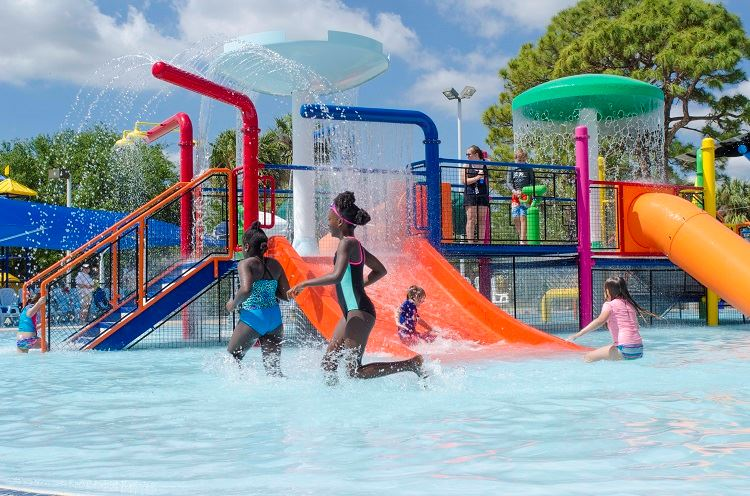 Children playing in the Splash Zone; photo compliments of Lauren Ligeti Photography
