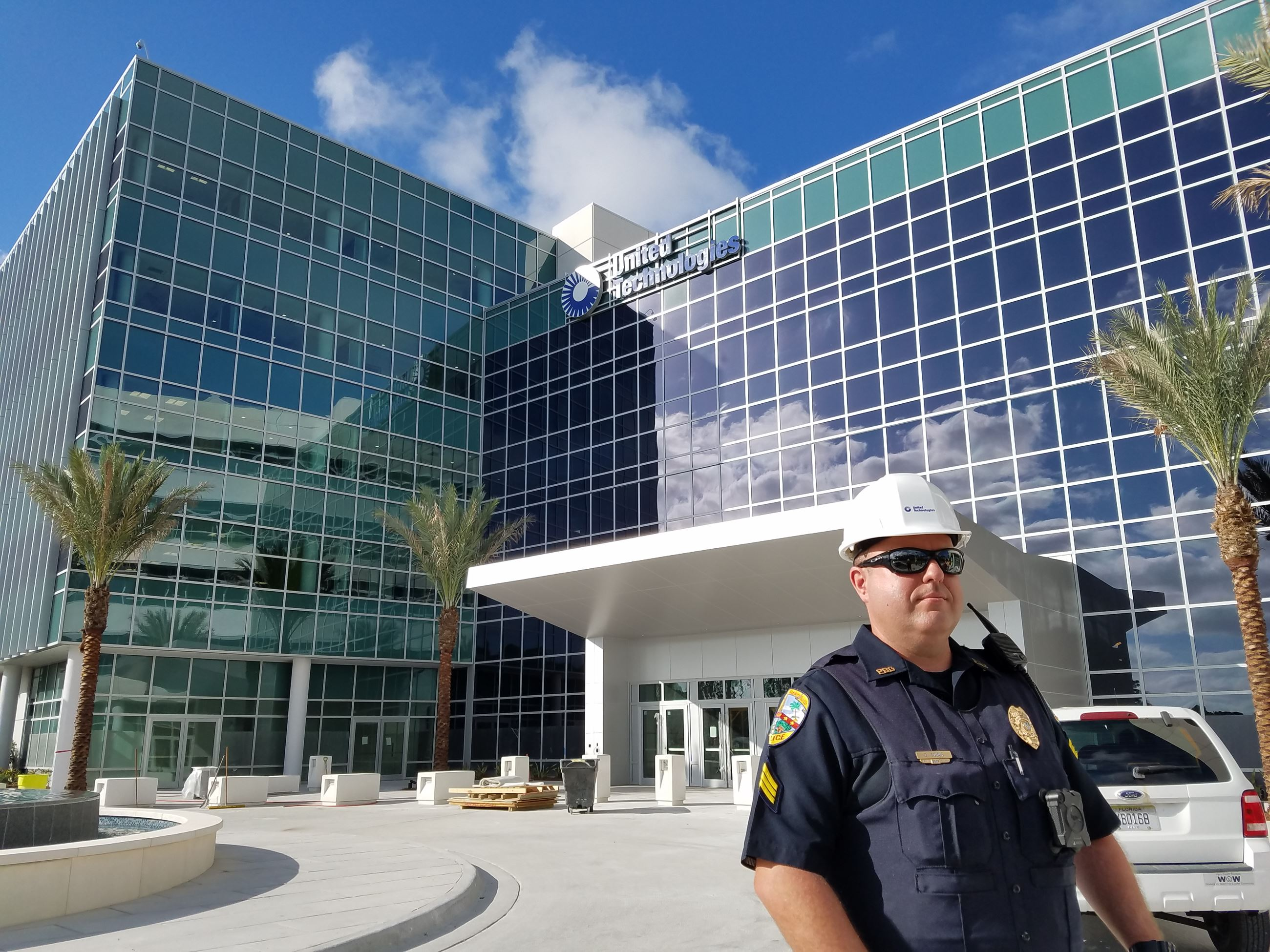 Image of a Sergeant standing in front of a building
