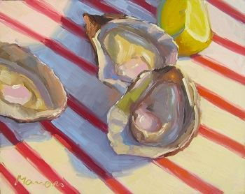 """Half Shell Heaven"", oil painting by Manon Sander"