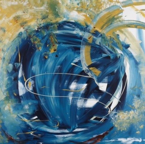 """Orbit"" - Acrylic Painting by Lynne Solomon"