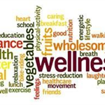 Health and Wellness Fair logo made up of