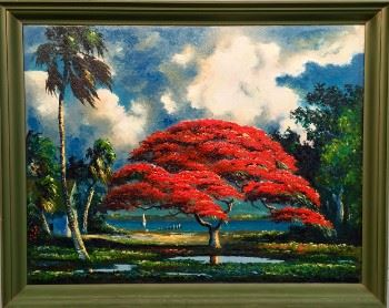 """Poinciana by the River"" by Harold Newton"