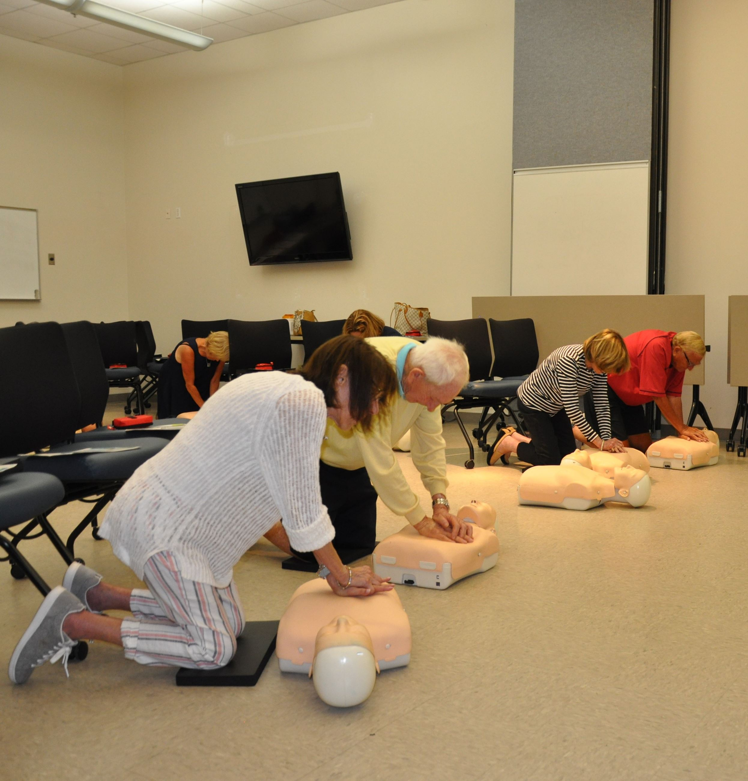 Community hands-only CPR training.