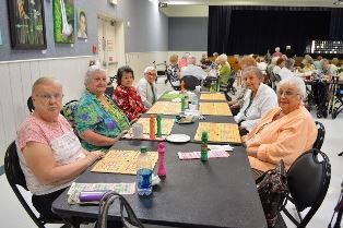 A group of ladies playing BINGO