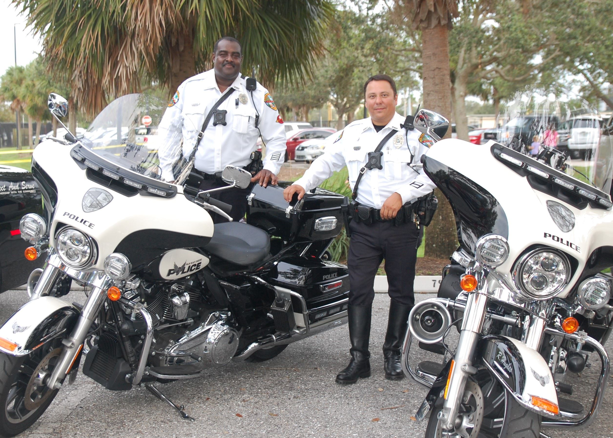 Motor Officers Standing Next to Motorcycles 2018