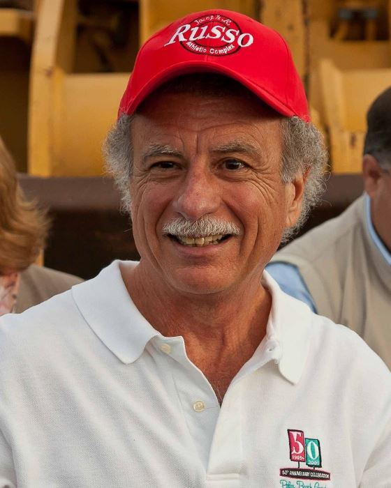 A picture of Joseph R. Russo wearing a Russo baseball cap